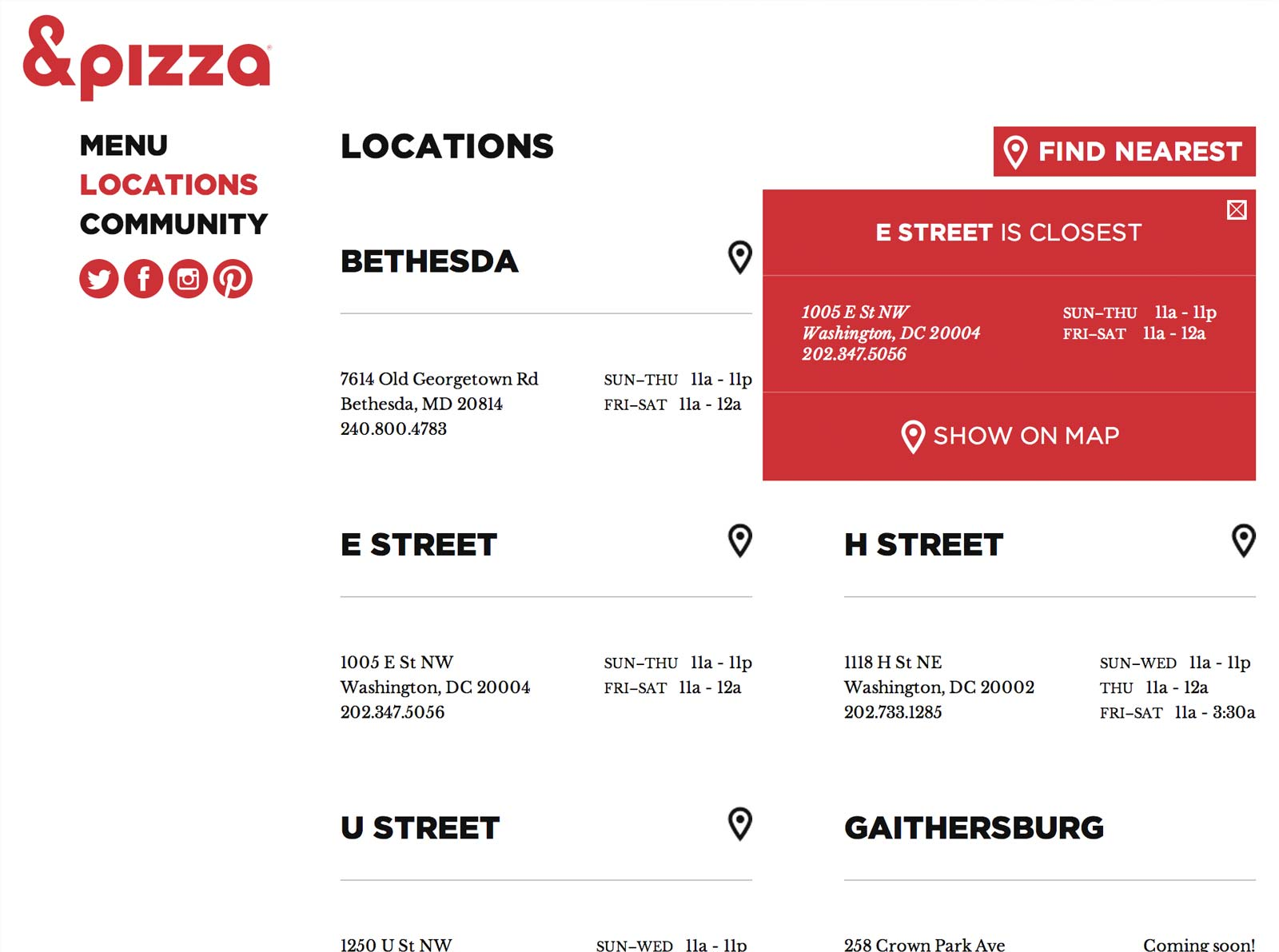 &pizza locations page